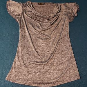 Candid Soul size large gray blouse